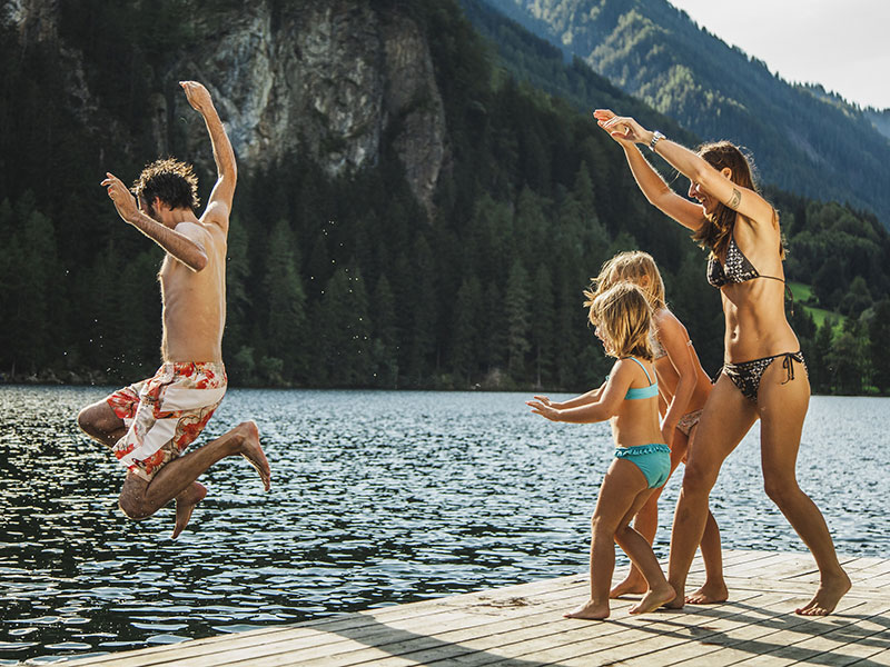 Schwimmen im Piburger See
