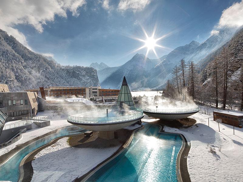 Aqua Dome im Winter